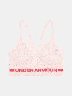 Růžová sportovní podprsenka Under Armour Seamless Low Long Htr Bra