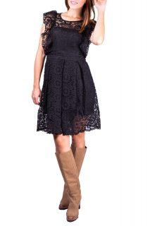 Simpo černé krajkové šaty Boho Fall