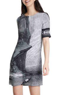 Desigual šedé šaty Vest Niagara
