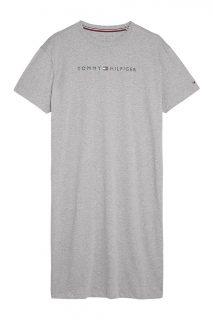 Tommy Hilfiger šedé domácí šaty Grey Heather Basic s logem