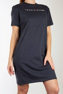Tommy Hilfiger modré domácí šaty Navy Blazer Basic s logem