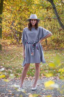 Simpo šedé šaty Waterfall Grey