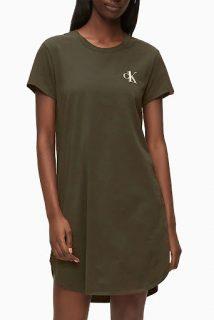 Calvin Klein khaki domácí šaty S/S Nightdress