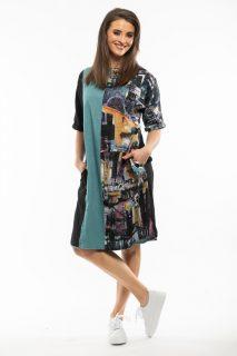 Orientique oboustranné barevné šaty Da Vinci