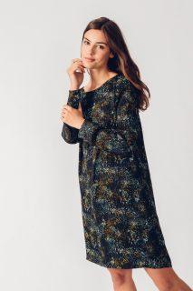 SKFK volné vzorované šaty Aura