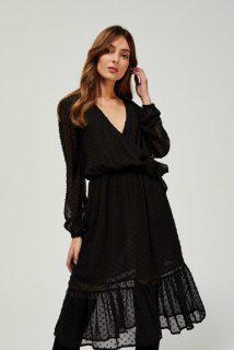 Moodo černé puntíkované šaty