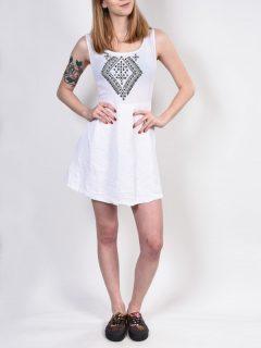 Element OSLO white krátké letní šaty – bílá