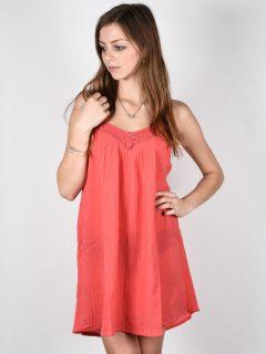 Billabong BEACH BOUND HORIZON RED krátké letní šaty – oranžová