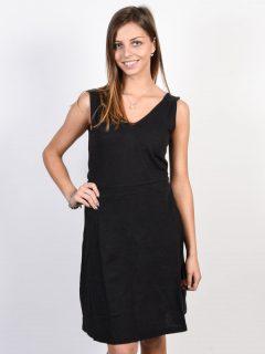 Roxy CLOUDLESS DAY ANTHRACITE krátké letní šaty – černá