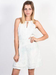 RVCA BAY CLOUD BLUE krátké letní šaty – bílá