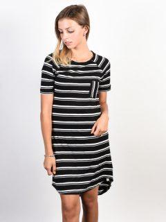 Element LOVELY black krátké letní šaty – černá