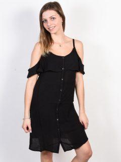 Roxy HOT SPRING STREET TRUE BLACK krátké letní šaty – černá