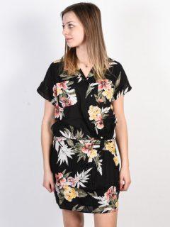 Volcom RagN Flower Black Combo krátké letní šaty – černá