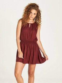 Element SOMEONE port krátké letní šaty – červená