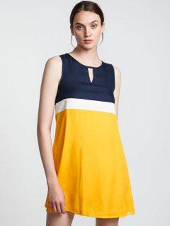 Element SOMEWHERE GOLD krátké letní šaty – modrá