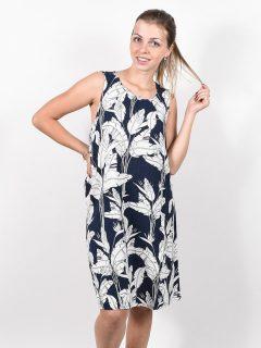 Roxy TRANQUILITY VIBES MOOD INDIGO FLYING FLOWERS krátké letní šaty – modrá