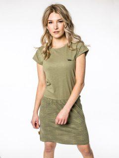 Alife and Kickin SHANNAAK DUST krátké letní šaty – zelená