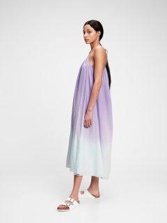 Fialové dámské šaty tie-dye cami maxi dress
