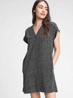 Černé dámské šaty v-neck dress GAP