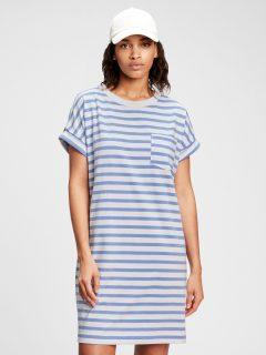 Modré dámské šaty GAP pocket t-shirt dress