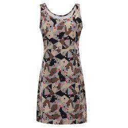 Dámské rychleschnoucí šaty ALPINE PRO ELANDA 4 šedá