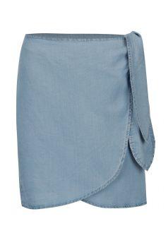 Světe modrá zavinovací sukně VERO MODA Zuri