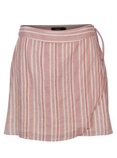 Starorůžová zavinovací pruhovaná sukně VERO MODA Summer