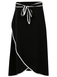Černá midi sukně se zavazováním Fornarina Michaela
