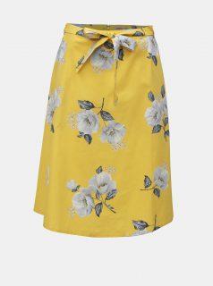 Žlutá dámská květovaná sukně Cath Kidston