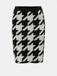 Krémovo-černá vzorovaná pouzdrová sukně Noisy May d74bc2b4d6