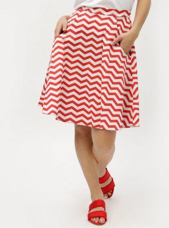 ba649949446a Bílo-červená vzorovaná sukně ZOOT - Sukně