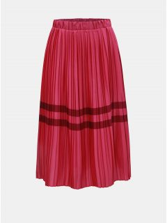 2b61fdea604 Tmavě růžová plisovaná sukně s pruhy VERO MODA Niti
