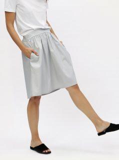 241e56b70e8f Světle šedá sukně s kapsami ZOOT