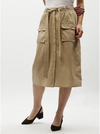1867f63a2fe Béžová sukně s kapsami VILA Nyala - Sukně