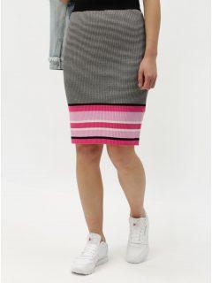 Růžovo-šedá vzorovaná pouzdrová sukně ONLY Sigrid c9c7a9b5c4