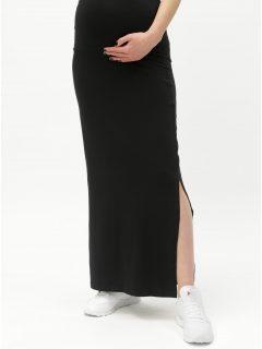 Černá těhotenská maxi sukně s rozparkem Mama.licious Lea