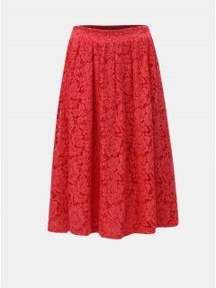 Červená krajková sukně ONLY Skylar