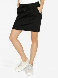 Černá sukně s elastickým pasem VERO MODA Eva