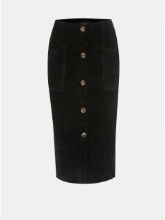 Černá žebrovaná sukně TALLY WEiJL Cojimi