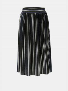 Černá pruhovaná plisovaná sukně ONLY Hildur