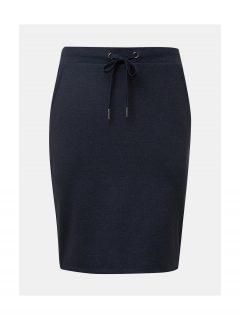 Tmavě modrá sukně s pruhy na bocích Tom Tailor