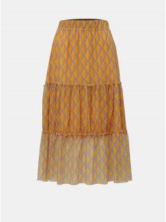 Oranžová vzorovaná midi sukně Noisy May Ginny