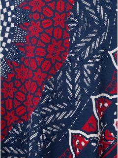 Tmavě modrá vzorovaná sukně Desigual Nise