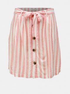 Krémovo-růžová pruhovaná sukně VILA Harper