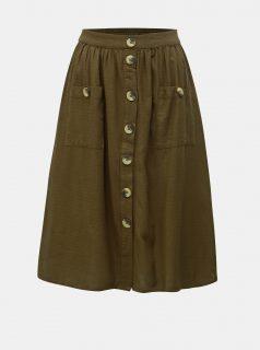 Khaki sukně VILA Kaluna