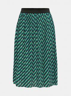 Modro-zelené pruhovaná plisovaná sukně ONLY Disco