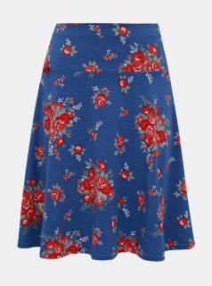 Modrá květovaná sukně Blutsgeschwister Jetset Boulevard