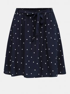 Tmavě modrá puntíkovaná sukně VERO MODA
