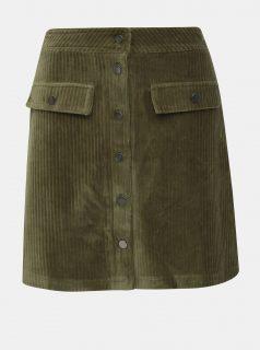Khaki manšestrová sukně ONLY Fenja