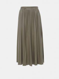 Khaki plisovaná maxi sukně ONLY Anina